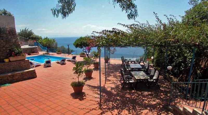 01 Villa Blu pool area - VILLA BLU Vettica/Amalfi - Amalfi Coast - Amalfi - rentals