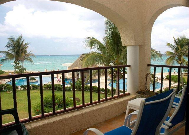 Xaman Ha 7108 terrace - Spectacular view!Oceanfront 2 bedroom! !(XH7108) - Playa del Carmen - rentals