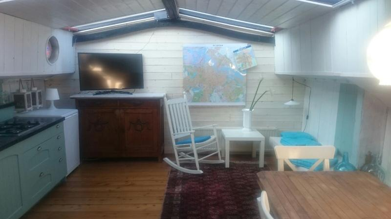 Houseboat Avontuur Living area - Luxurious houseboat on the river Amstel - Avontuur - Amsterdam - rentals