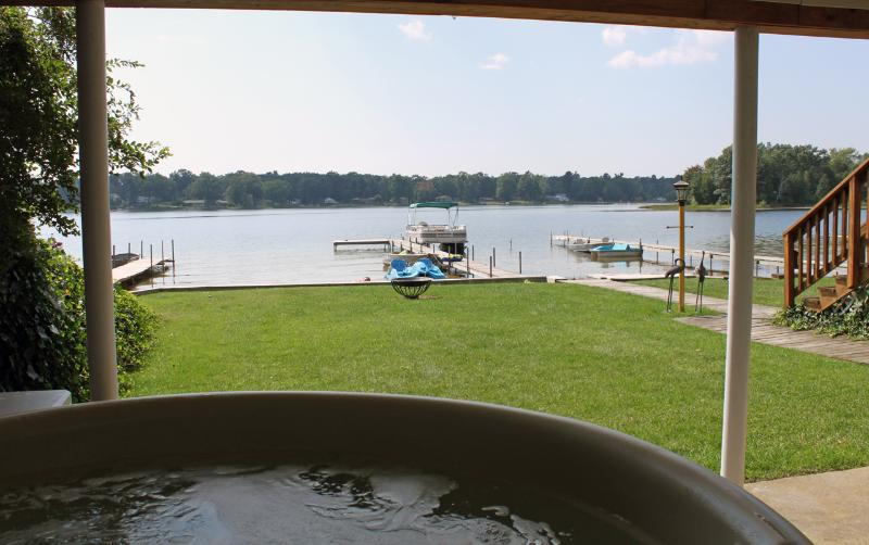 "Awesome view from the hot tub! - Muskegon ""Lakefront Vacationing at it's Best!"" - Twin Lake - rentals"