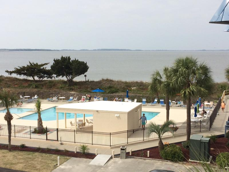 YOUR VIEW from balcony! - It's Delightful!  3RD-FLOOR VIEW; WIFI - Tybee Island - rentals