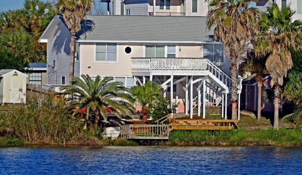 View of the home from the lake. - Blue Laguna - Panama City Beach - rentals