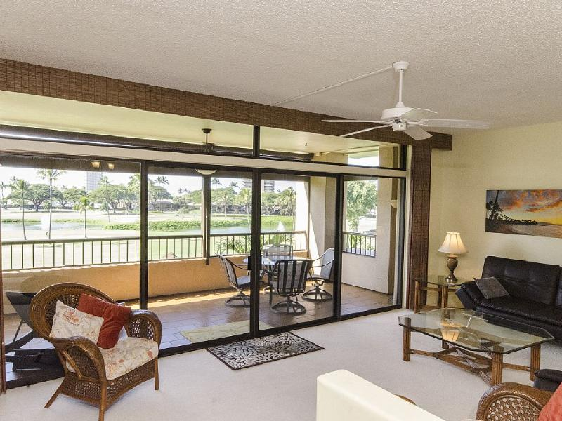 Fabulous golf course views from the large lanai and living area - Spacious 2 Bd 2 BA Ka'anapali Condo - Lahaina - rentals