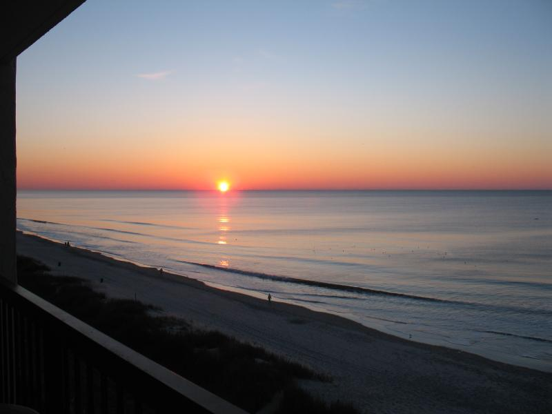 View of the sunrise from our balcony - Direct Oceanfront - Great Location! - North Myrtle Beach - rentals