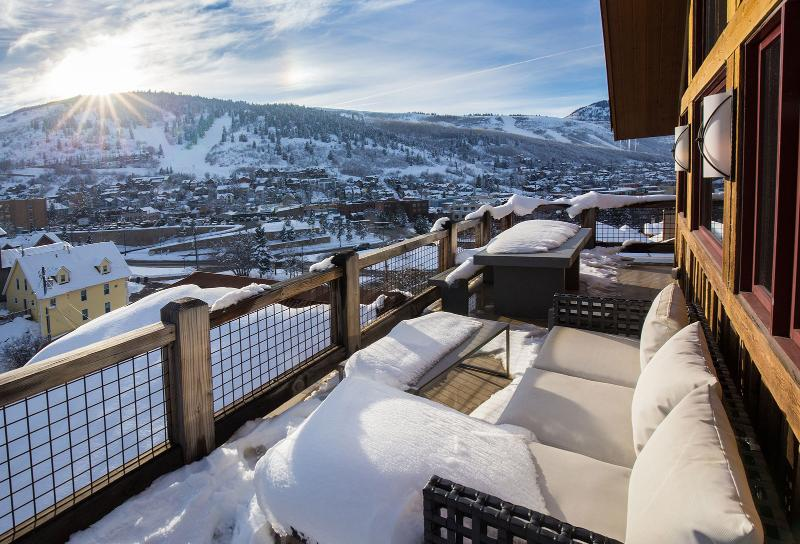 Deck View of Park City Mountain Resort - Magnificent 6 BR Deer Valley & Old Town House  with views, premier location, and luxury amenities! - Park City - rentals