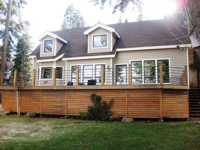 Back of House - Sinclair - Beautiful West Shore Lake Front with Guest House - Lake Almanor - rentals
