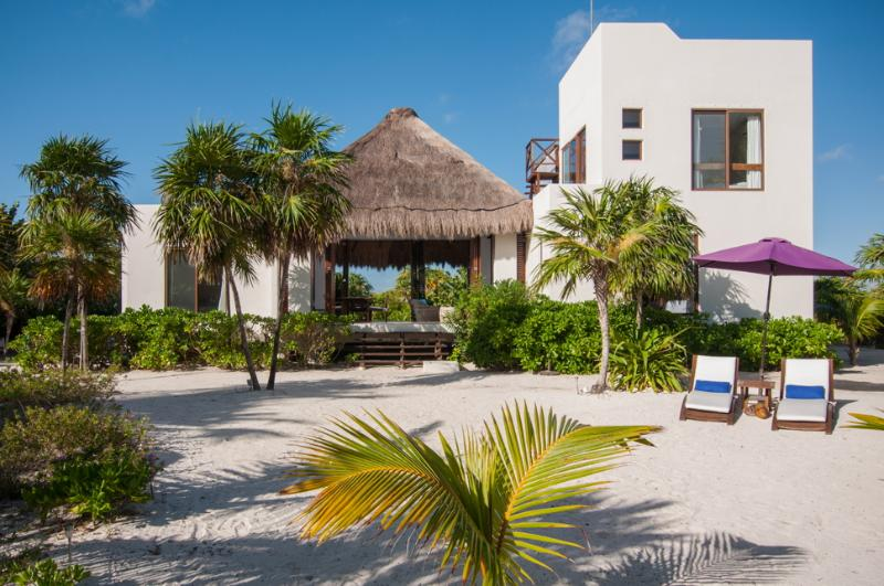 Luxury beachfront villa in Sian Kaan, Tulum - Image 1 - Punta Allen - rentals