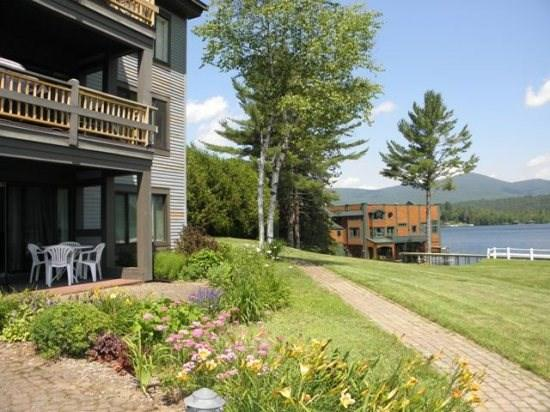 Lake Front Walk - Out Patio  - Harbor Condo #25 on Lake Placid - Lake Placid - rentals