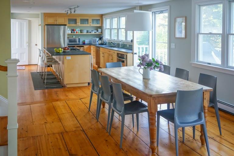 Beautiful cooks` kitchen with wide pine floors and modern furnishings - Designer Home in Wellfleet Center with Water Views - Wellfleet - rentals