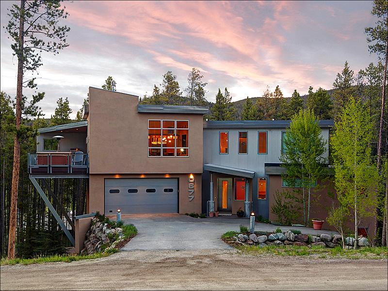 Stunning Home Exterior - Elegant Contemporary Design - Lovely Wooded Views (13626) - Breckenridge - rentals