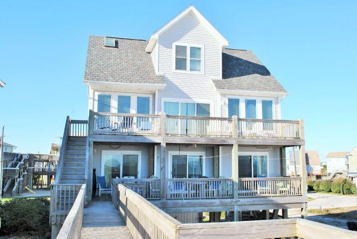 Oceanfront side - Ocean Song - North Topsail Beach - rentals