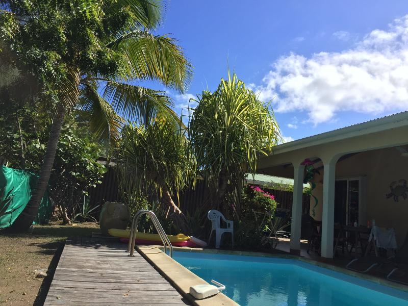 VIEW OF PRIVATE POOL AND GARDEN - ORIENT BEACH VILLA WITH PRIVATE POOL - SXM - Orient Bay - rentals
