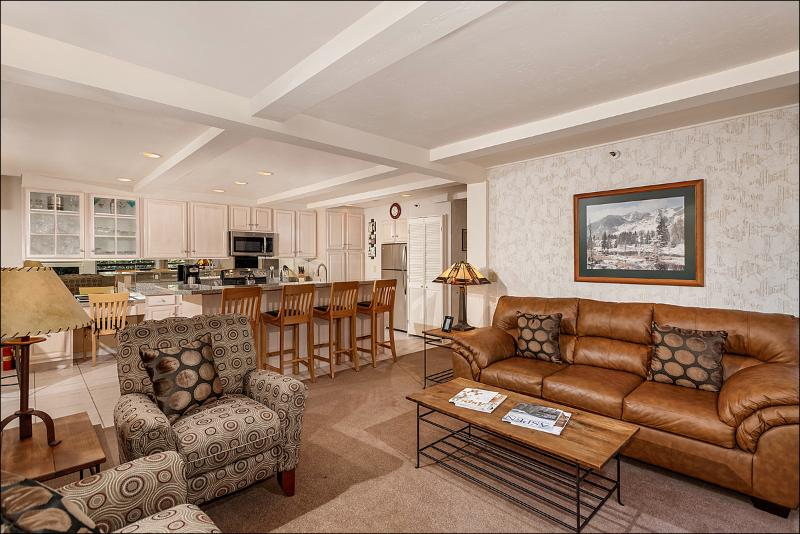 Spacious living area with fireplace - Value in the Aspen Core - Walk to Gondola and Restaurants (3804) - Aspen - rentals