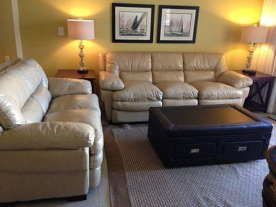 New Leather Furniture - Sleeper Sofa - WATERSCAPE A-117 BEACH LEVEL - Fort Walton Beach - rentals