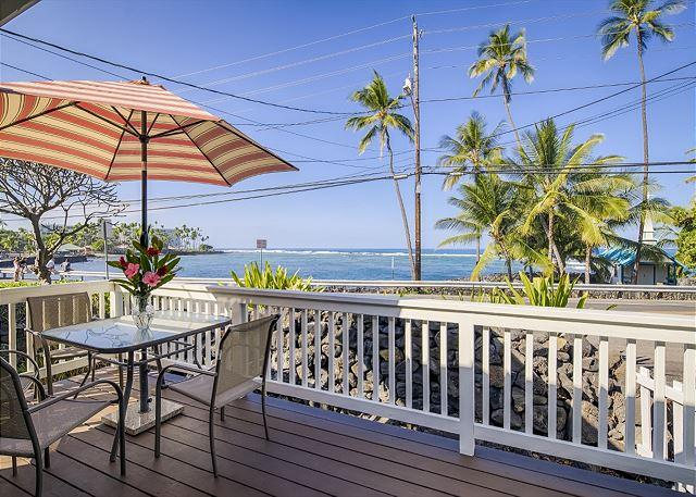 Almost Ocean Front Views from Lanai - Almost Oceanfront- Steps Away from Kahaluu Beach! - Kailua-Kona - rentals