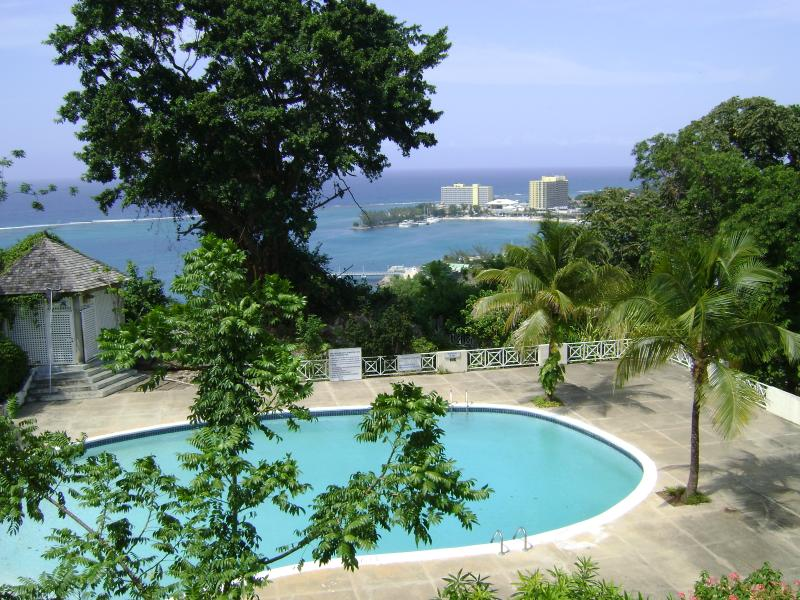 View of beach and pool from condo - Blue Horizons deluxe  2 bedroom seaview Condominium - Ocho Rios - rentals