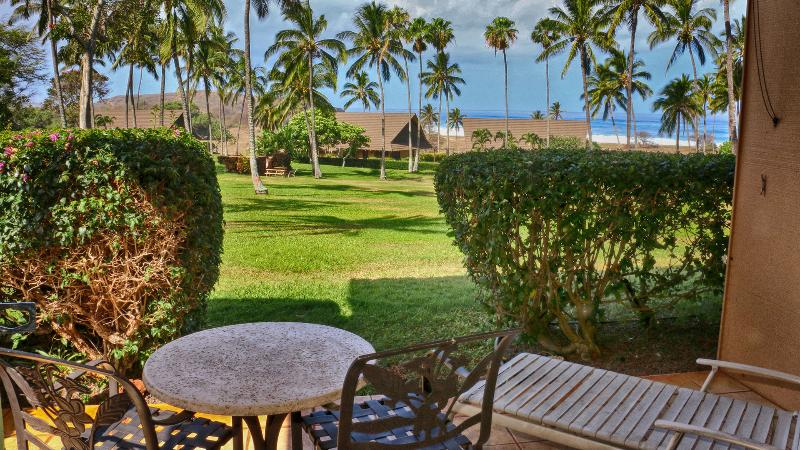 The lanai is spacious and has great seating.  The view is awesome.  No parking lot views! - Kepuhi Beach Resort ground floor condo - Maunaloa - rentals
