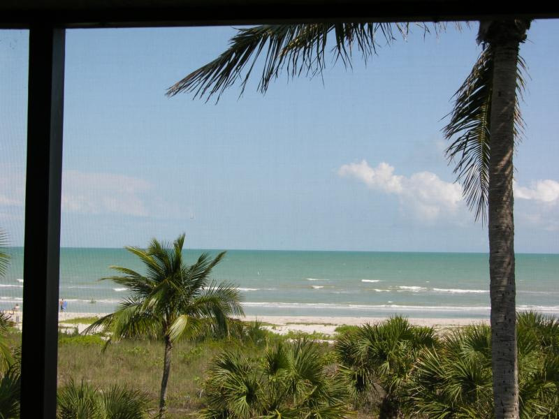 Beach View from Lanai and Living Room - Sanibel Island Sanddollar C201 - Sanibel Island - rentals
