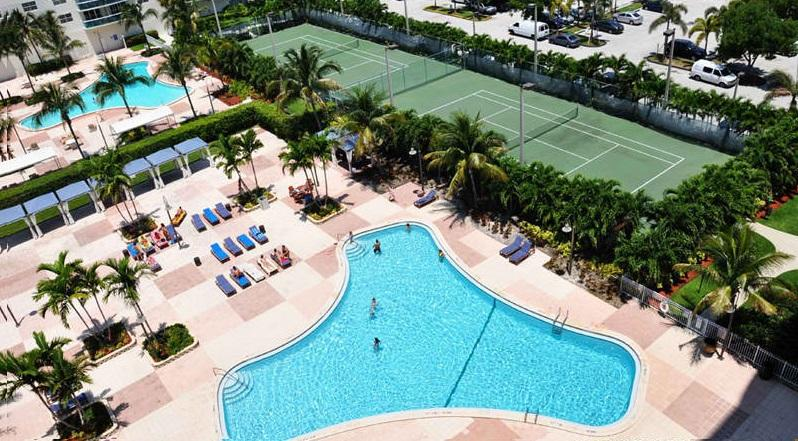 heated pool with lounge area and tennis courts - Lovely 3BR Ocean Reserve Condo across Beach! - Sunny Isles Beach - rentals