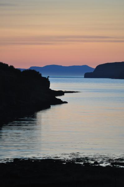June sunset from the Apartment - 2 bedroom apartment with superb view over loch - Portree - rentals