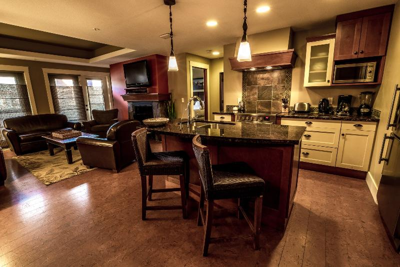 Open floor plan with excellent finishings - lots of space to gather together and relax - Luxury Canmore 2 Bedroom Preferred Extra Spacious Condo - Canmore - rentals