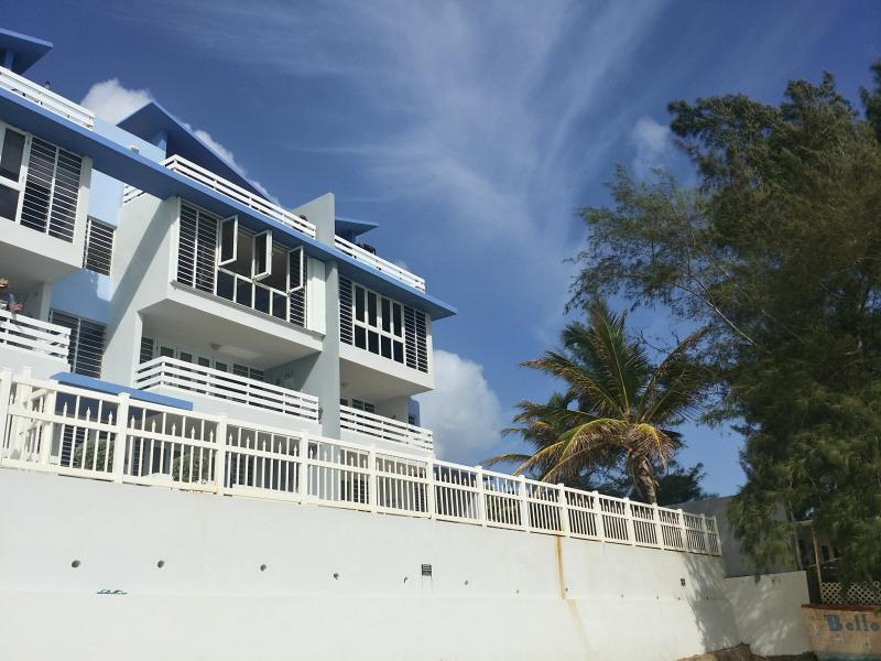 Condo On Upper Right Corner - View From Beach - PRIVATE Rooftop Terrace! 2 Bedroom Condo On Beach - Luquillo - rentals