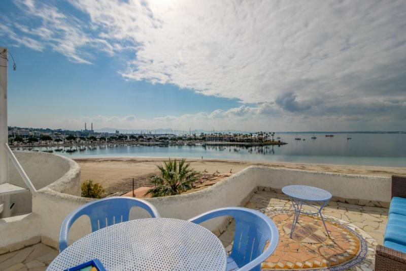 Waterfront home w/ a shared pool & two private terraces, steps from the beach! - Image 1 - Alcudia - rentals