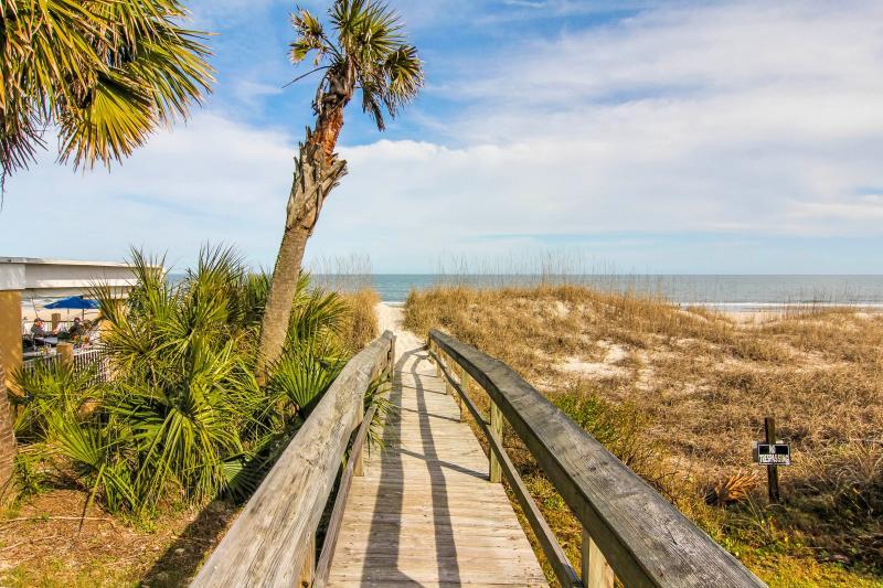 Boardwalk to the Beach - Sea Nook is at the Beach! - Fernandina Beach - rentals