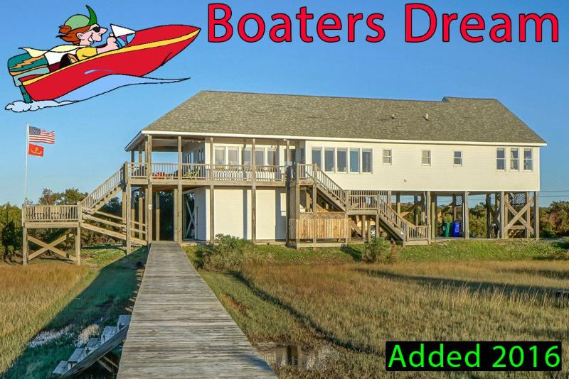 Bring your boat - Barton Bay Ct 113 | Stay surrounded by water, Watch sailboats, FISH! - North Topsail Beach - rentals