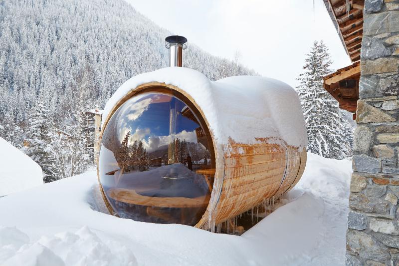 Wood fired scenic view bubble sauna  - 5* Luxury Chalet - Marmotte Mountain Libellule - Chamonix - rentals