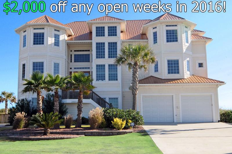$2000 of any week booked after 4/2/16 - Save $2000 on any open week! Island Drive 3682 Oceanfront! | Private Heated Pool, Hot Tub, Elevator, Jacuzzi, Internet Discounts Available- See Description!! - North Topsail Beach - rentals