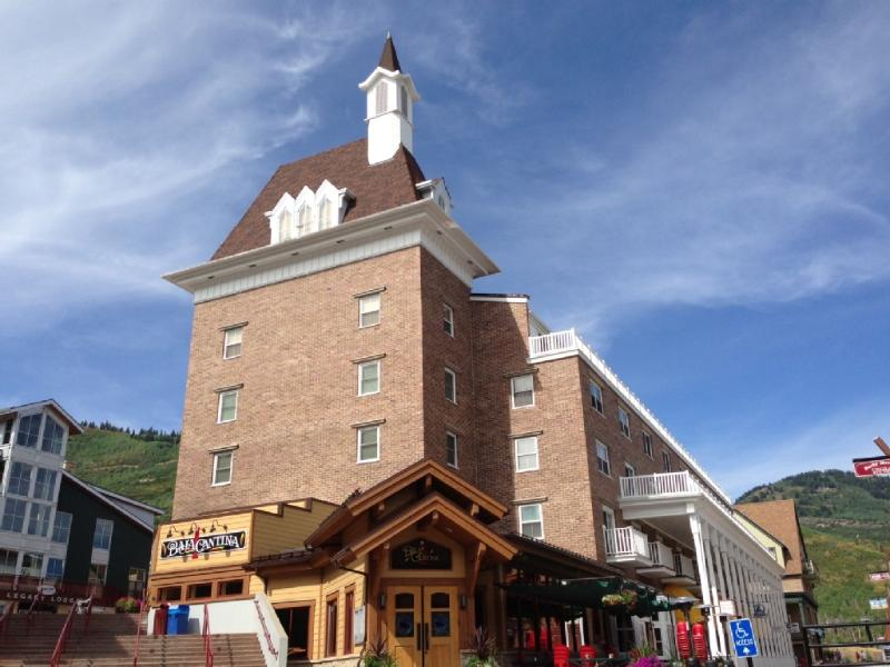 Our building with ski runs behind - Awesome Ski in/Out, K,Q @Resort Plaza, Pool HotTub - Park City - rentals