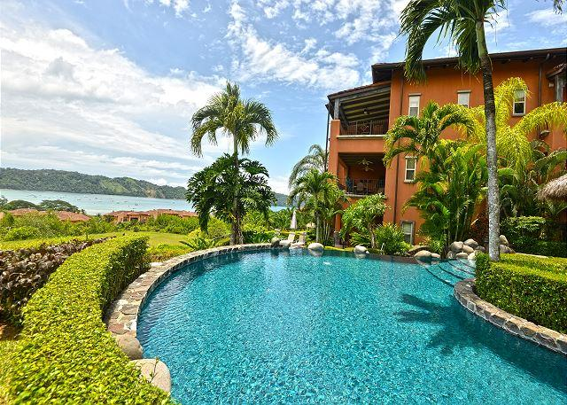 Pool Area and Montebello Building - Stay 7 Nights Pay 5! Private Luxury Condo with amazing ocean and bay view! - Los Suenos - rentals
