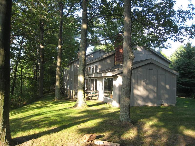 side facing lake - Beachfront Lodge On Lake Michigan (just listed) - Mears - rentals