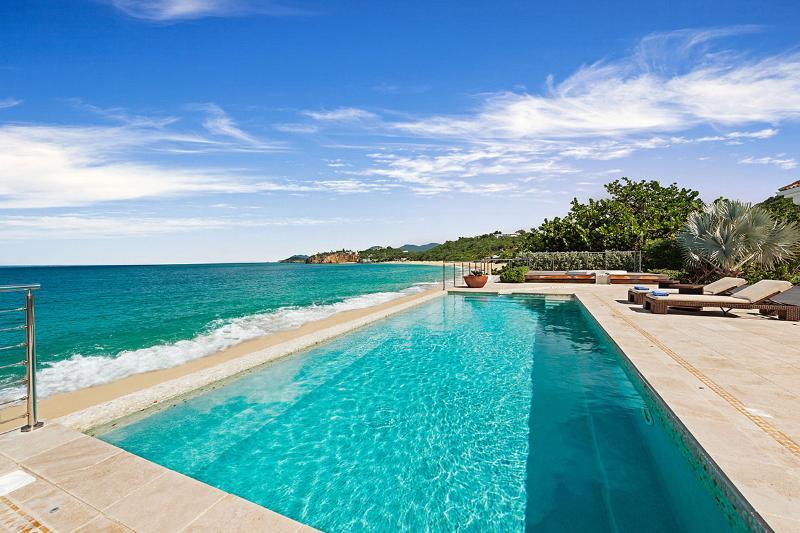 La Vie en Bleu at Baie Rouge Beach, Saint Maarten - Beachfront, Pool & Jacuzzi, Private - Image 1 - Terres Basses - rentals