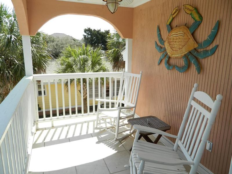 Private Balcony with rockers - Beautiful Private Home w/ HotTub! Great Rates!! - North Myrtle Beach - rentals