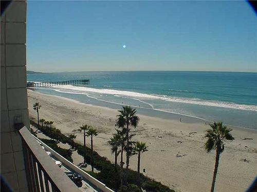 ocean view from living room - Charming House in San Diego (4767 Ocean Blvd. #201) - San Diego - rentals