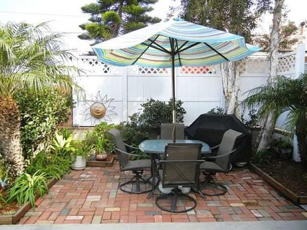 Ground floor patio - 815 Aspin Court - San Diego - rentals