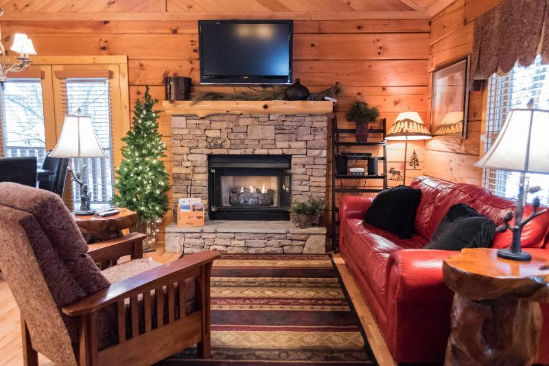 CUTE AND COZY Romantic Cabin in the Woods with Hot tub! - Image 1 - Sevierville - rentals