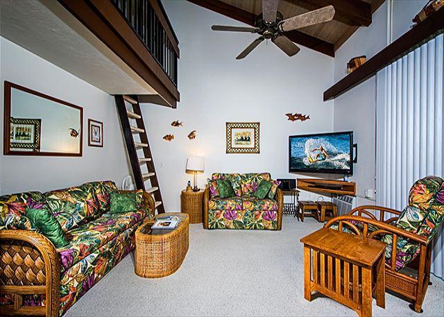 KM3302 Top Floor, Gorgeous 1 Bedroom + Loft and 2 Lanais! - Image 1 - Kailua-Kona - rentals