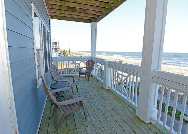 KB Villa C8 -  Oceanfront condo with unobstructed views, Jacuzzi and more - Image 1 - Kure Beach - rentals