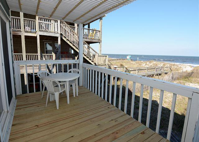 Shore Is Nice - Great oceanfront 3 bedroom duplex with plenty of parking - Image 1 - Carolina Beach - rentals