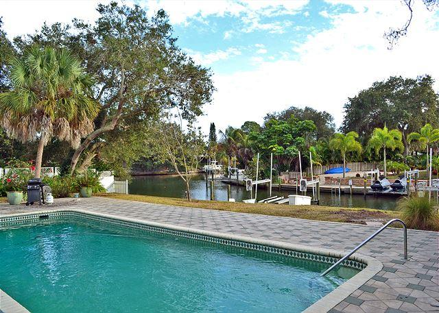 Spacious Siesta Key Canal Front Vacation Rental House with Large Heated Pool - Image 1 - Siesta Key - rentals