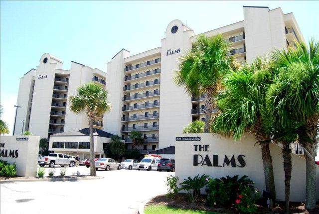The exterior building for the Palms in Orange Beach, AL. - The Palms 304C~ three beds, 3 baths corner unit! - Orange Beach - rentals