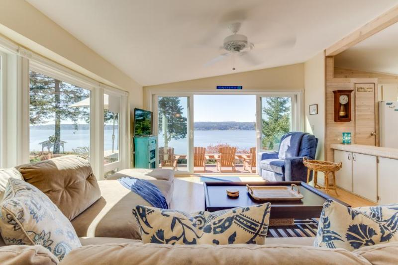 High-bank waterfront home w/ Puget Sound & wildlife views! - Image 1 - Freeland - rentals