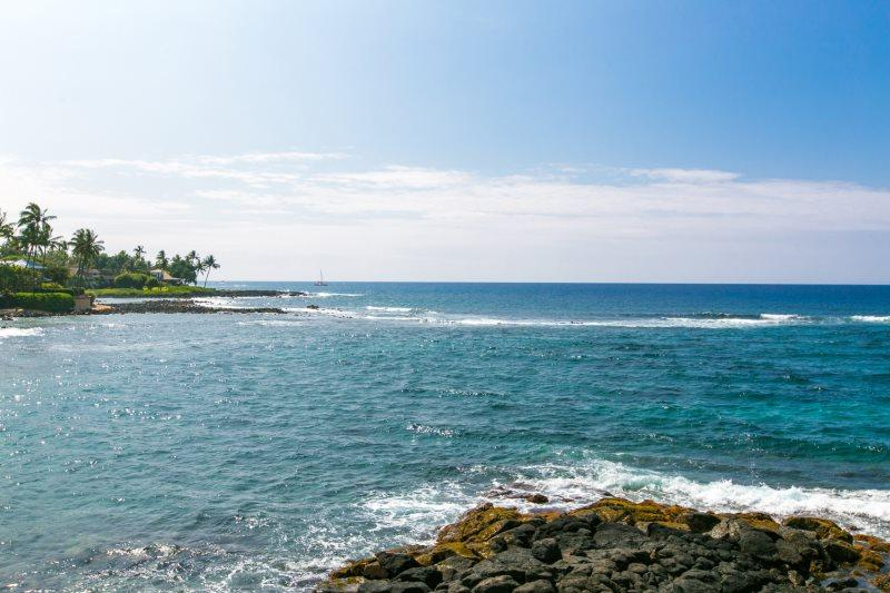 View from Kuhio Shores 208 - Kuhio Shores 208 Beautiful 1bd oceanfront condo with FREE mid-size car - Koloa - rentals