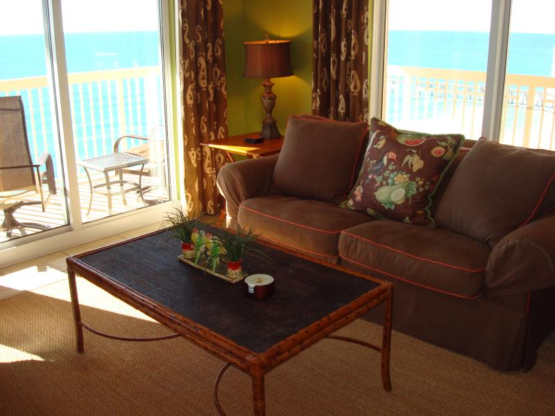 Enjoy the view from the living room w/dual sliding doors & windows on both sides - BREAK 4 CALYPSO 2017! FREE Rsrv Prkg, BchChrs&WIFI - Panama City Beach - rentals