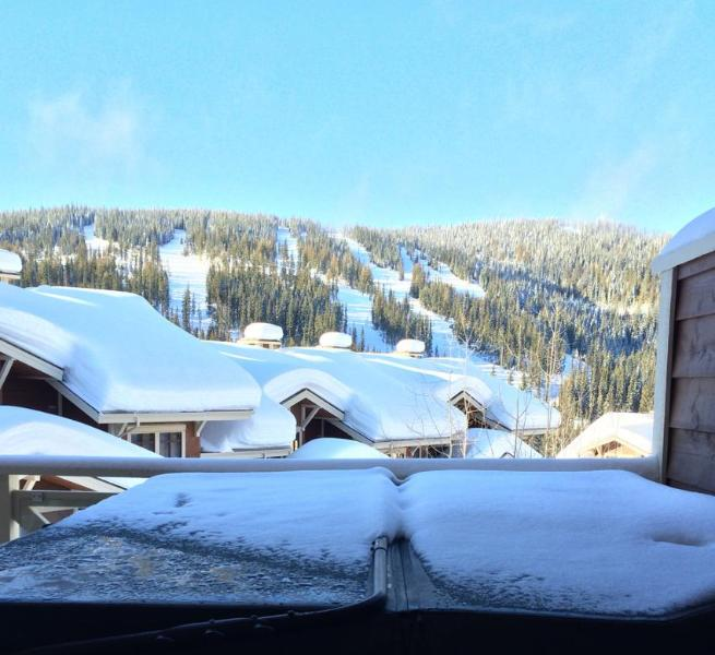 Kia Ora (Welcome) to the view from the Master Bedroom over the hot tub at our Sun Peaks home - Kiwi Ski Condo at Sun Peaks - Sun Peaks - rentals