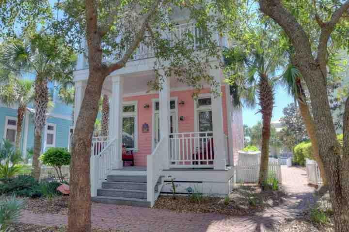 Front View of Sandy Joy Beautiful Victorian Home located in Carillon Beach - Sandy Joy - Panama City Beach - rentals