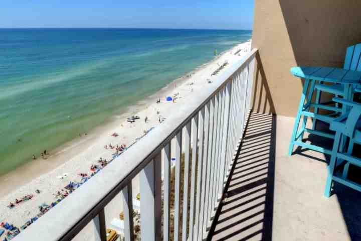 Amazing View of the Emerald Waters of the Gulf from your 8th Floor Balcony - 808 Tidewater Beach Resort - Panama City Beach - rentals